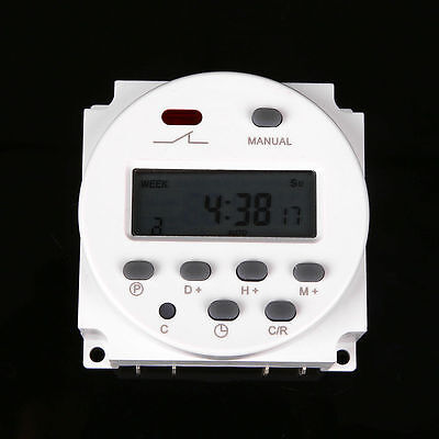 12V Digital Time Switch Electronic Timer LCD Display Power Relay Programmable