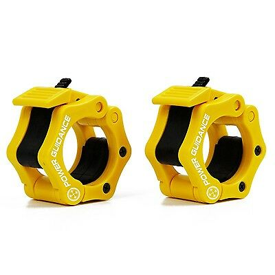 Weightlifting Barbell Clamp Collar - BY POWER GUIDANCE - Quick Release Pair o...