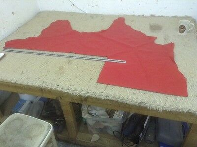 Rouge Red Upholstery Leather 1.2 - 1.4mm 55 x 41 Inch