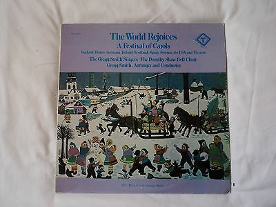 THE WORLD REJOICES -A Festival of Carols -US copy Turnabout QTV 34710 ~ VG / VG.