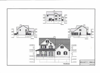 Full Set of two story 4 bedroom house plans 2,750 sq ft