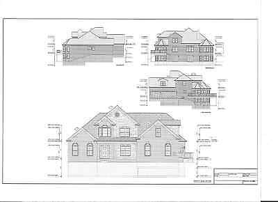 Full Set of two story 5 bedroom house plans 3,557 sq ft