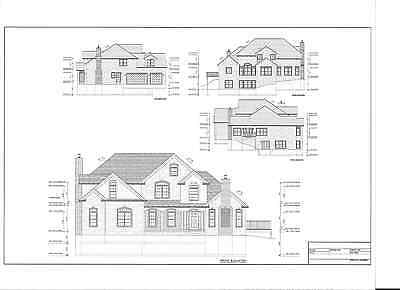 Full Set of two story 4 bedroom house plans 4,050 sq ft