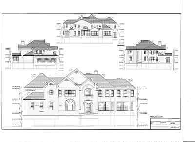 Full Set of two story 5 bedroom house plans 5,052 sq ft