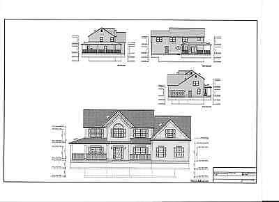 Full Set of two story 4 bedroom house plans 3,012 sq ft