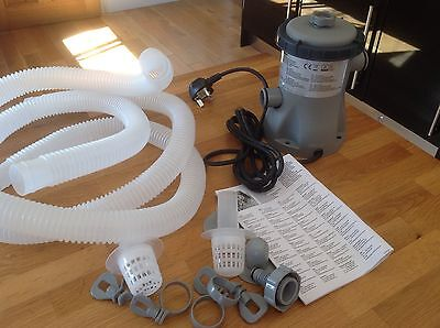 Bestway Flowclear Pool Filter Pump Model 58145 330g with pipes And Filter New