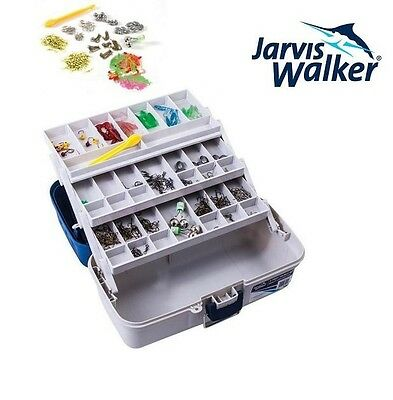 Jarvis Walker 500 Piece 3 Tray Tackle Box Storage Brand New