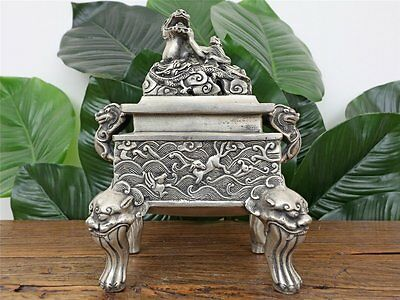 Räuchergefäss Duftbrenner Incense Burner Censer Messing China A2892