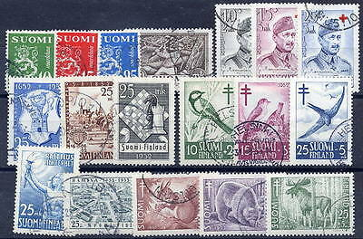 FINLAND 1952-53 complete year issues used.
