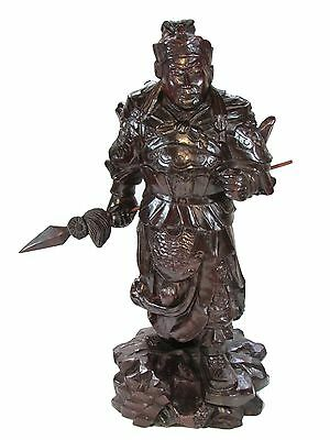 Chinese Carved Wood Sculpture 16 inches