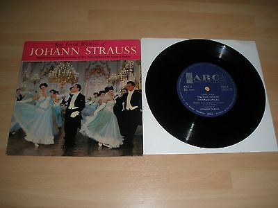 "Best Loved Waltzes Of Johann Strauss 7"" Vinyl Leonard Sorkin Arc 6 1962 Ex """
