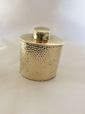 JS&S Solid Brass Vessel, Cantina, Tea Caddy, Flask, Made in England