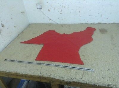 Rouge Red Upholstery Leather 1.2 - 1.4mm 35 x 34 Inch