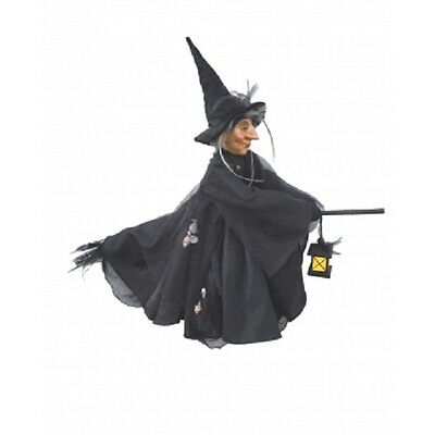 Witches of Pendle - Agatha Witch Flying (Black) 50cm