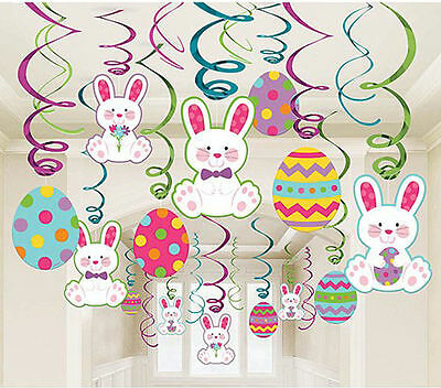 30 x Easter Hanging Swirl Party Decorations Megga Bumper Value Pack FREE P&P