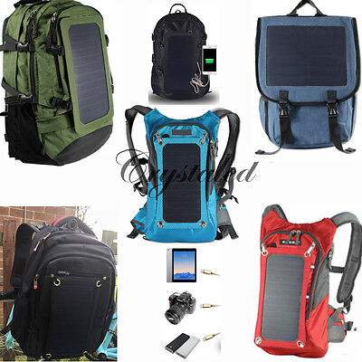 Outdoor Camping Hiking Travel Leisure Solar 18L 6.5W Backpack + 3D VR BOX