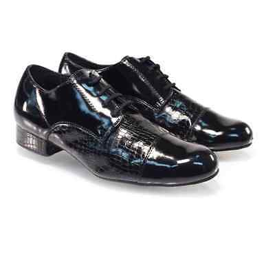 Mens Full Patent Leather Ballroom Character shoe suede sole B graded item