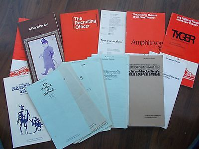 JOB LOT OF 35 1960's NATIONAL THEATRE PROGRAMMES AND CAST LISTS