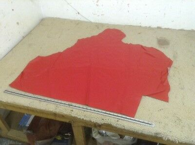 Red Rouge Upholstery Leather 1.2 - 1.4mm 43 x 40 Inch