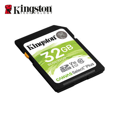 Kingston 32GB Canvas Select SDHC C10 UHS-I Flash Tarjeta de Memoria SDS/32GB