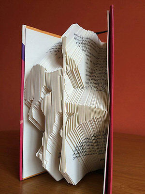 Pole Dancer Book Folding Pattern (measure mark and fold)