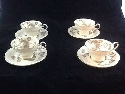 Castleton GLORIA  Set of 4 Cups and Saucers