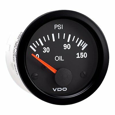 Vdo Oil Pressure Gauge Vision Black 350-108