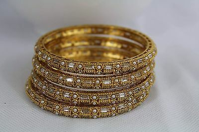 Ethnic Set Of 4 Indian Traditional Bangles Bollywood Jewellery  2*6- 75