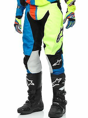 Pantaloni motocross Alpinestars 2016 Techstar Factory Blu-Giallo-Florescent-Ross