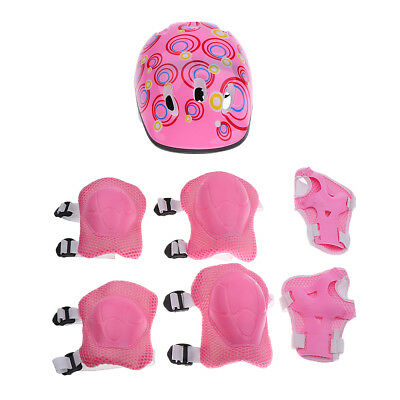Girls Helmet Elbow Wrist Knee Pads Protective Set for Skating Cycling Sports