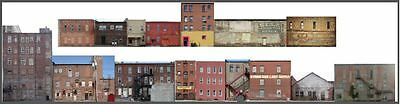 #605 O scale COMMERCIAL BACKS 16 building SET WITHOUT FOAM CORE *FREE SHIPPING*