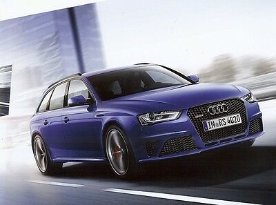 """2014 - AUDI RS 4 Avant """"Nogaro selection"""" by quattro - French sales brochure"""