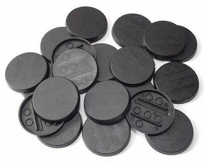 12 (Twelve) 30mm Round Bases for Wargaming and Roleplaying NEW