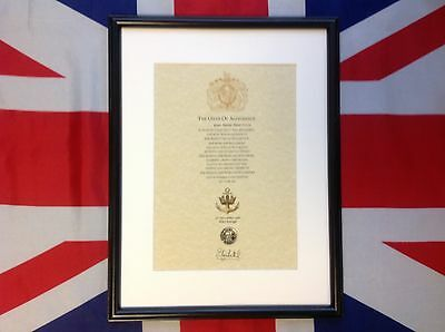 Royal Navy Oath Of Allegiance With Real Sovereign's Shilling