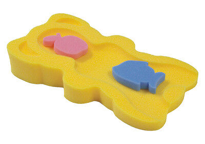 Yellow Baby Bath Support Foam - Sponge MIDI + 2 sponge toys