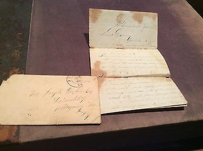 CIVIL WAR LETTER & COVER DATED 1863 FRIENDSHIP NY CANDID & SOLDIER BATTLE ID,d