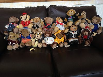 Set Of 15 Teddy Bear Collection Bears With Accessories | Collectable | Free P&p