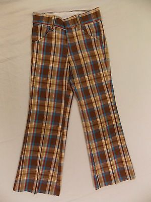 Vintage Rough Housers Plaid Pants Boys Girls Kids Pants Size 8 Slim INV#0761