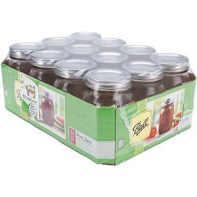 Ball Canning Jar Regular Mouth W/Lid-Pint 014400610004