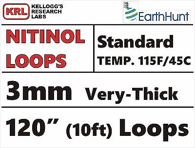 "Very-Thick 3mm WELDED LOOP 120"" TRAINED NITINOL WIRE 115f/45c STANDARD TEMP Rare"