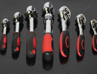 """1/4 3/8 1/2"""" Drive 72Teeth Extendable Ratchet Handle Socket Wrench Tool Spanners"""