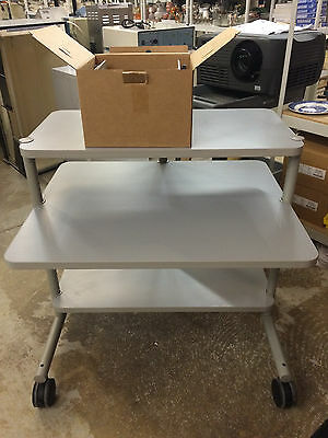 """Anthro Heavy Duty Medical Instrument Cart - 4"""" Casters w/ Cable Management Kit"""