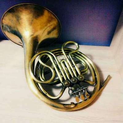 Vintage USSR Brass Pipe French Horn Leningrad