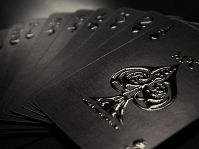 Impressions Black Stealth Rare Limited Custom Playing Cards Pro Poker Deck $$