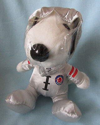 Fab Rare Vintage Retro *snoopy* Plush Soft Toy In Silver Spaceman Outfit