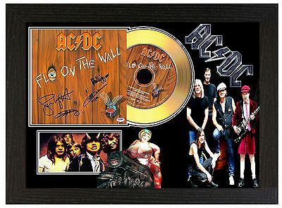 Acdc Ac/dc B  - A4 Signed Framed Gold Vinyl Collectors Cd Display Picture