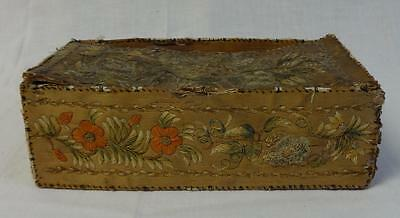 Rare Antique Native American Bark Box Quilted w/Vines & Floral Great Lakes Huron