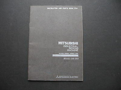 Mitsubishi Industrial Sewing Machine Instructions & Parts Manual Model  DN