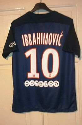 Paris Sg 2015 Home Shirt ,ibrahimovic#10.by Nike.size 13-14 Years.