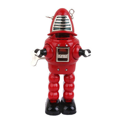 Mechanical Planet Space Robot Tin Windup Toy Red Robot Retro Vintage